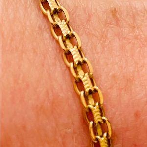 14K Gold Bracelet Bismarck Chain